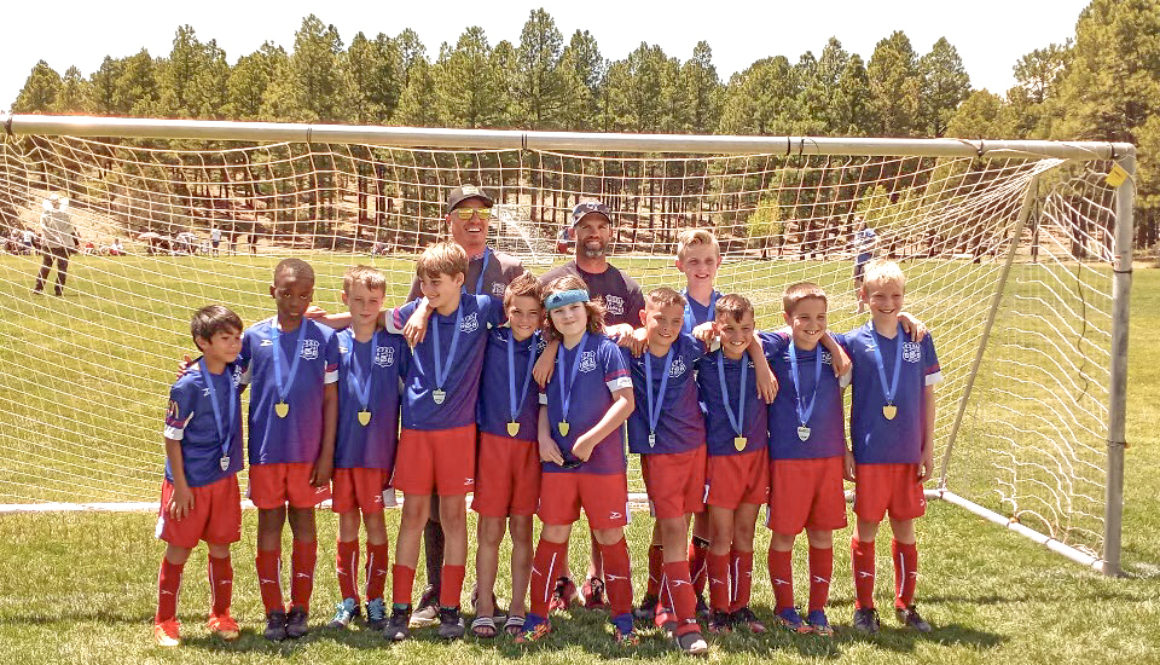 Kingman SC B10 team wins 1st place at 2021 Northern Arizona Invitational. Way to go boys!